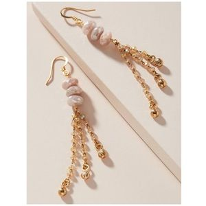 Pink Gold Swarovski Crystal Fania Drop Earrings